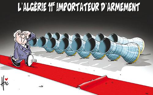 L'Algérie 11e importateur d'armement