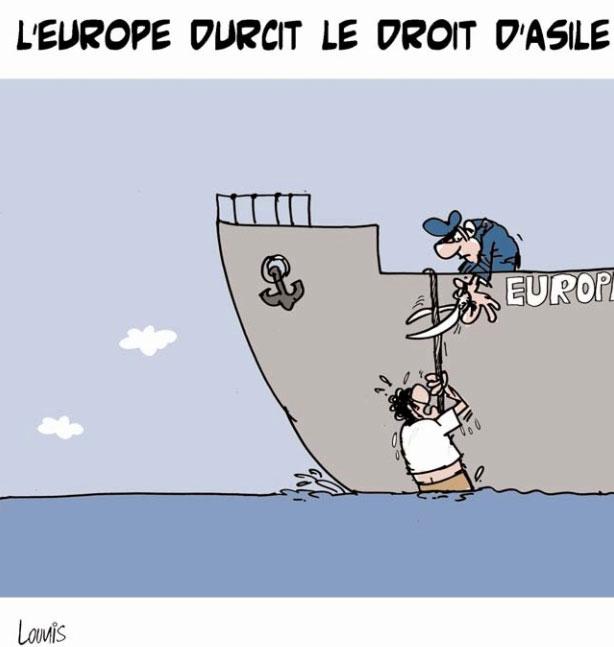 L'Europe durcit le droit d'asile