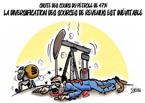 Chute des cours du pétrole de 47%: La diversification des sources de revenus est inévitable