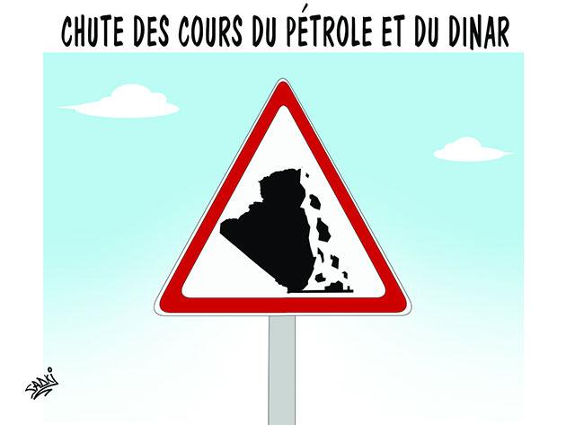 Chute des cours du pétrole et du dinar