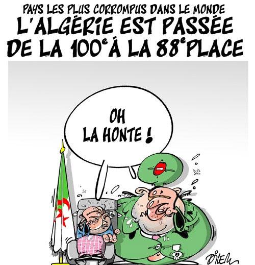 Pays les plus corrompus dans le monde: L'Algérie est passée de la 100e à la 88e place