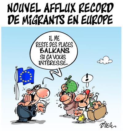 Caricature dilem TV5 du Lundi 26 octobre 2015