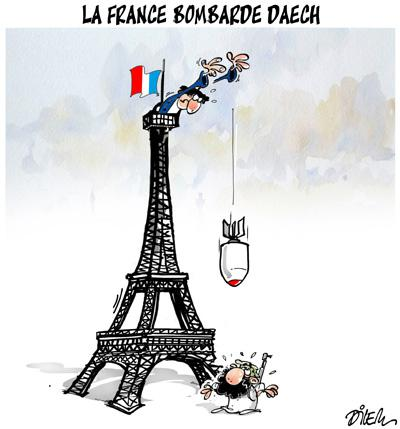 Caricature dilem TV5 du Lundi 16 novembre 2015