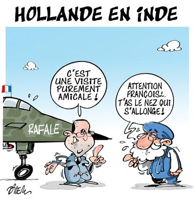 Caricature dilem TV5 du Lundi 25 janvier 2016