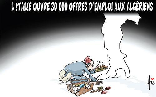 L'Italie ouvre 30 000 offres d'emploi aux algériens
