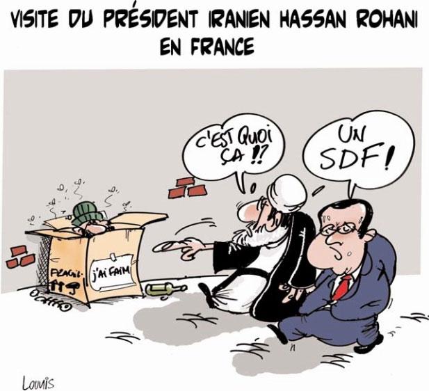 Visite du président iranien Hassan Rohani en France