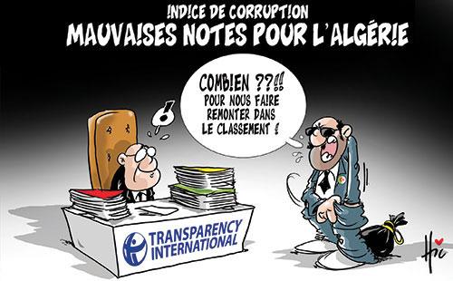Indice de corruption: Mauvaises notes pour l'Algérie