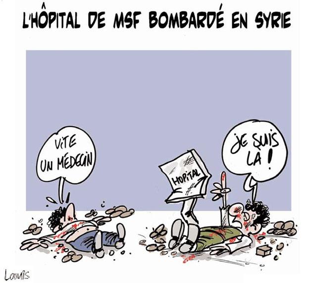 L'hôpital de MSF bombardé en Syrie