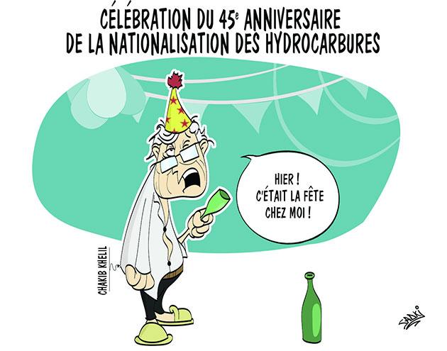 Célébration du 45e anniversaire de la nationalisation des hydrocarbures