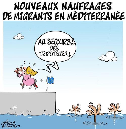 Nouveau naufrages de migrants en méditerranée