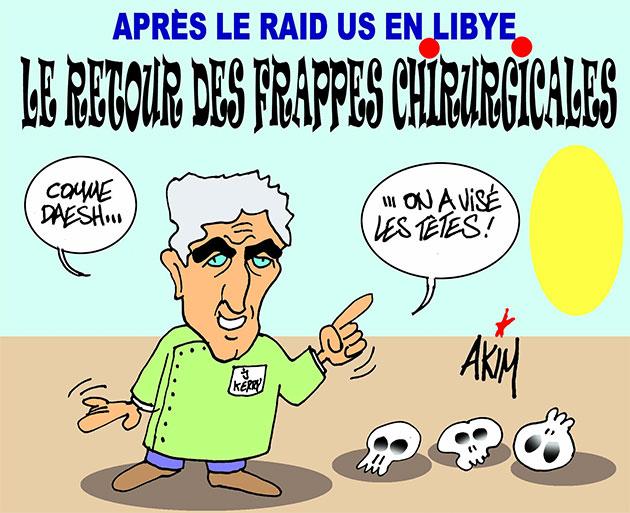Après le raid US en Libye: Le retour des frappes chirurgicales