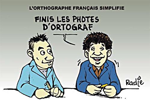 L'ortographe français simplifié
