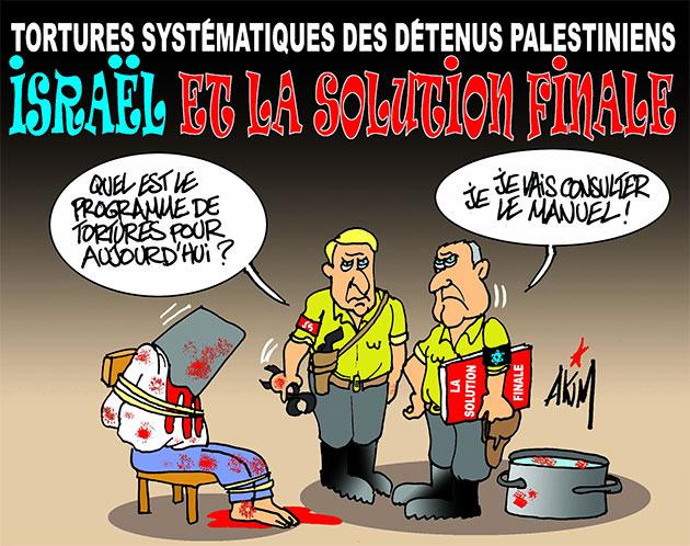 Tortures systématiques des détenus palestiniens