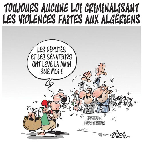 Toujours aucune loi criminalisant les violences faites aux algériens
