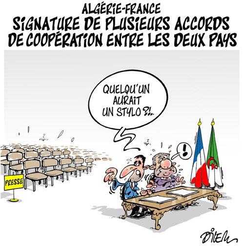 Algérie-France: Signature de plusieurs accords de coopération entre les deux pays
