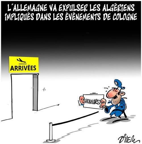 L'Allemagne va expulser les algériens impliqués dans les évènements de Cologne