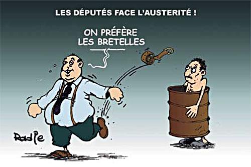 Les députés face à l'austerité