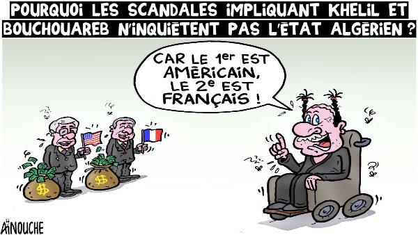 Pourquoi les scandales impliquant Khelil et Bouchareb n'inquiètent pas l'état algérien ?