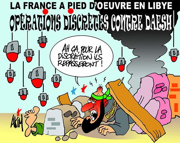 La France à pied d'oeuvre en Libye: Opérations discrètes contre daesh