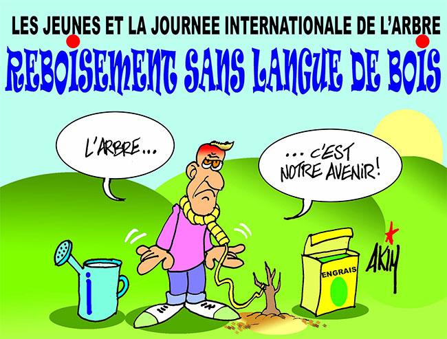 Les jeunes et la journée internationale de l'arbre