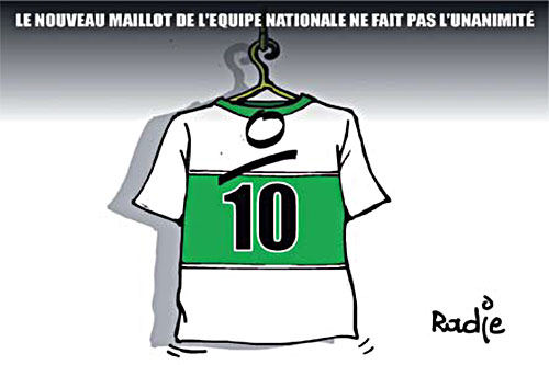 Le nouveau maillot de l'équipe nationale ne fait pas l'unanimité