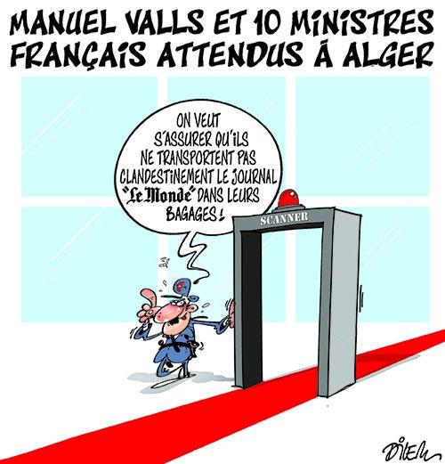 Manuel Valls et 10 ministres français attendus à Alger