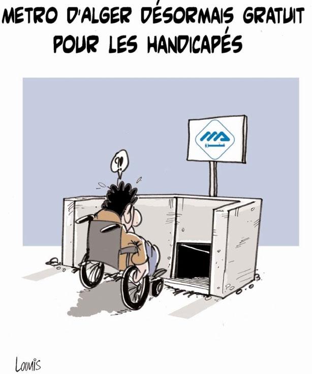 Métro d'Alger désormais gratuit pour les handicapés
