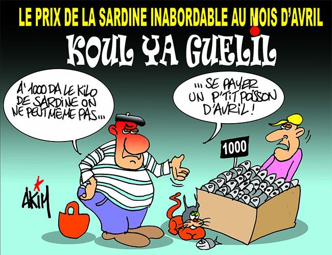 Le prix de la sardine inabordable au mois d'avril
