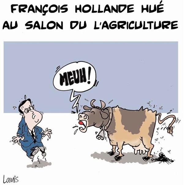 François Hollande hué au salon de l'agriculture