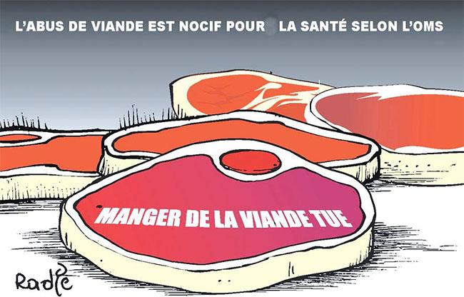 L'abus de viande est nocif pour la santé selon l'OMS