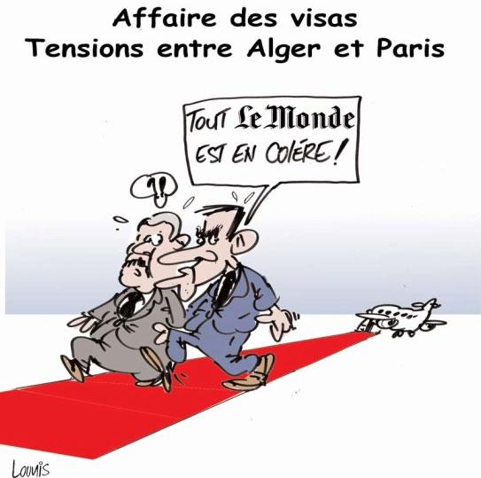 Affaire des visas: Tensions entre Alger et Paris