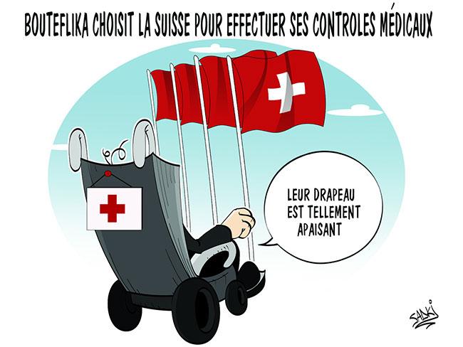 Bouteflika choisit la Suisse pour effectuer ses contrôles médicaux