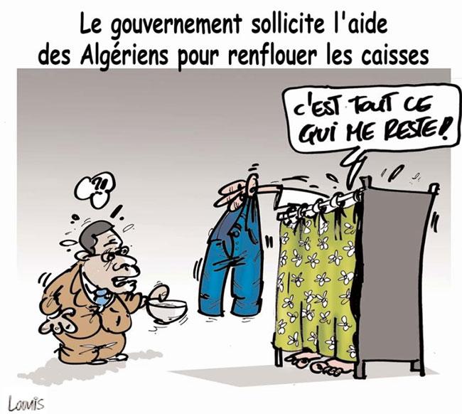 Le gouvernement sollicite l'aide des algériens pour renflouer les caisses