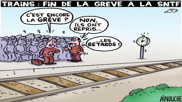 Trains: Fin de la grève à la SNTF