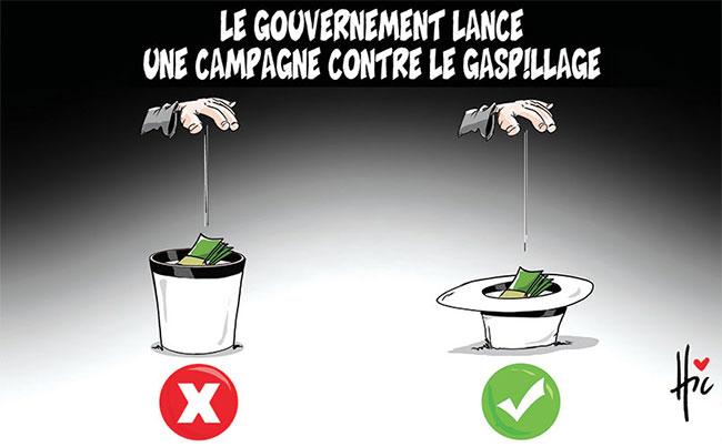Le gouvernement lance une campagne contre le gaspillage
