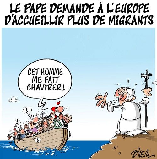 Le pape demande à l'Europe d'accueillir plus de migrants