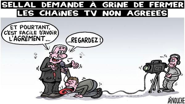 Sellal demande à Grine de fermer les chaînes TV non agréées
