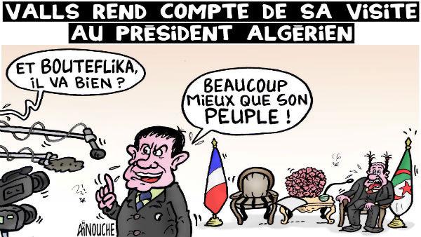 Valls rend compte de sa visite au président algérien