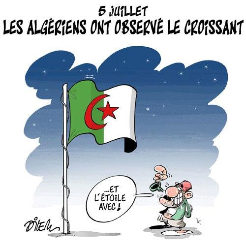 5 juillet: Les Algériens ont observé le croissant