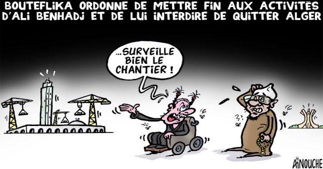 Bouteflika ordonne de mettre fin aux activités d'Ali Benhadj et de lui interdire de quitter Alger