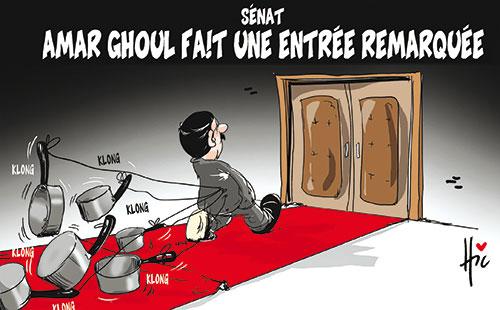 Senat: Amar Ghoul fait une entrée remarquée