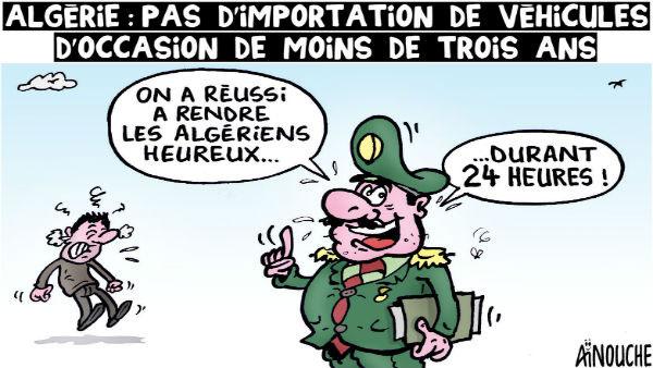 Algérie: Pas d'importation de véhicules d'occasion de moins de trois ans