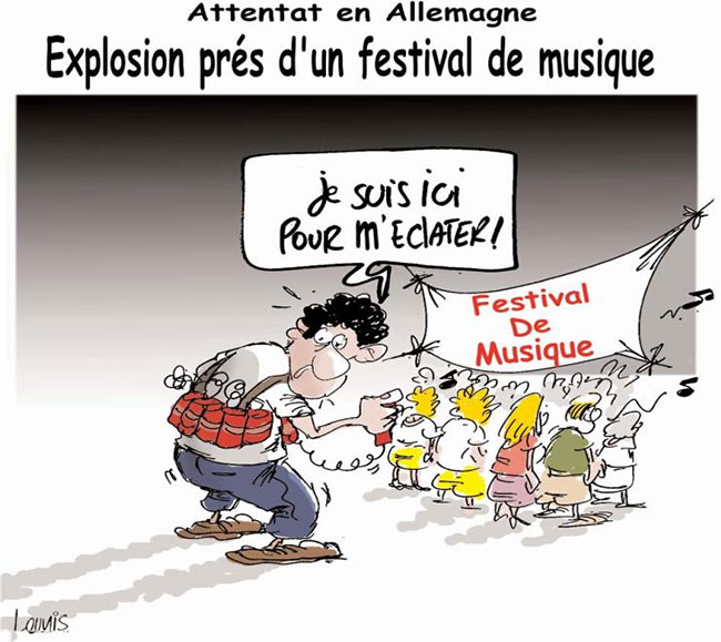 Attentat en Allemagne: Explosion près d'un festival de musique