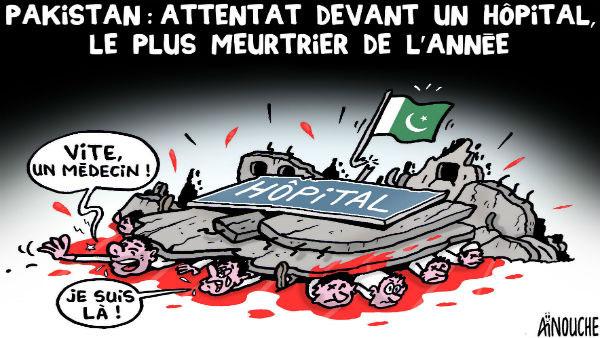 Pakistan: Attentat devant un hôpital