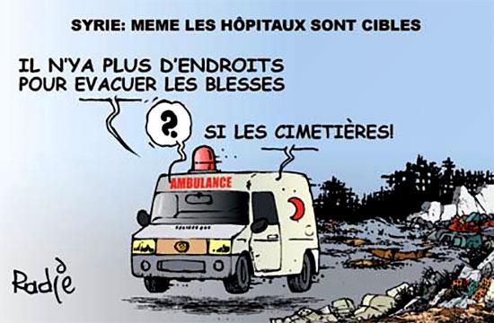 Syrie: Même les hôpitaux sont ciblés