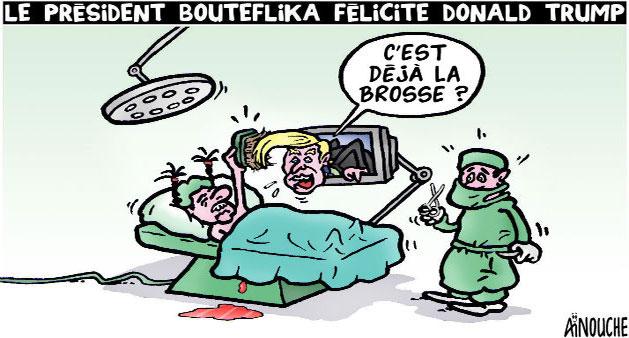 Le président Bouteflika félicite Donald Trump