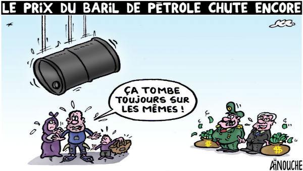 Le prix du baril de pétrole chute encore