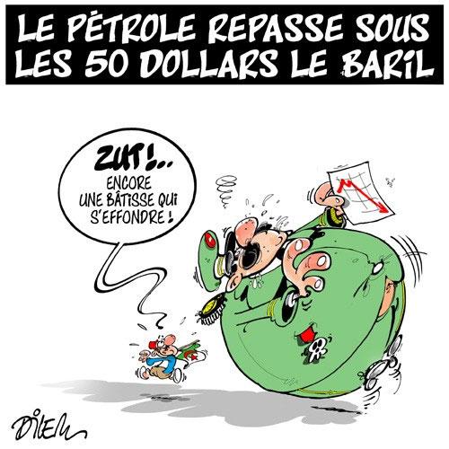Le pétrole repasse sous les 50 dollars le baril