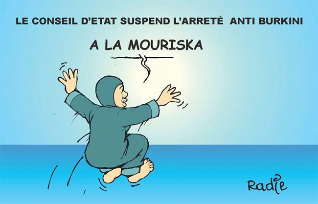 Le conseil d'état suspend l'arreté anti burkini