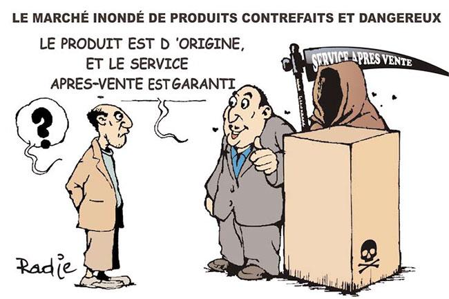 Le marché inondé de produits contrefaits et dangereux